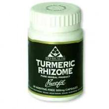 Bio Health Turmeric Rhizome 60 500mg capsules