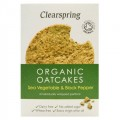 Clearspring Sea Vegetables & Black Pepper Oatcakes 250g