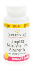 Natures Aid Complete Multivitamins 90 Tablets