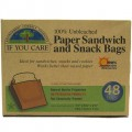 If You Care Paper Sandwich & Snack Bags 48b