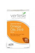 Vertese Gelatin Free Omega Oils 3+6+9 500mg 60 capsules